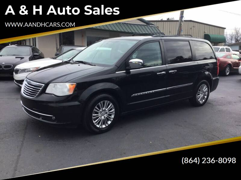 2013 Chrysler Town and Country for sale at A & H Auto Sales in Greenville SC