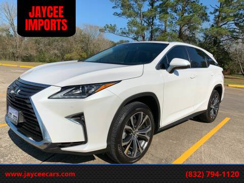 2019 Lexus RX 350L for sale at JAYCEE IMPORTS in Houston TX
