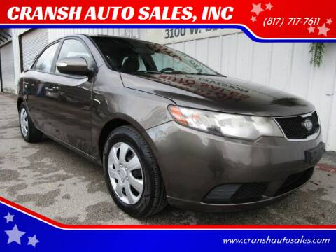 2010 Kia Forte for sale at CRANSH AUTO SALES, INC in Arlington TX