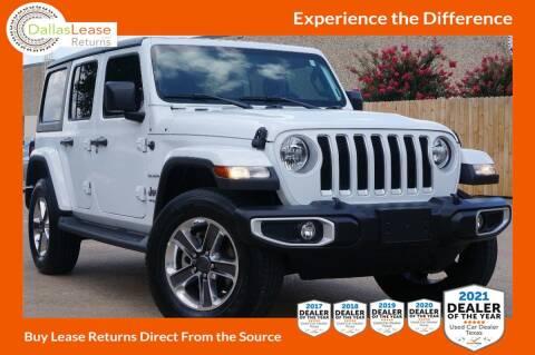 2020 Jeep Wrangler Unlimited for sale at Dallas Auto Finance in Dallas TX