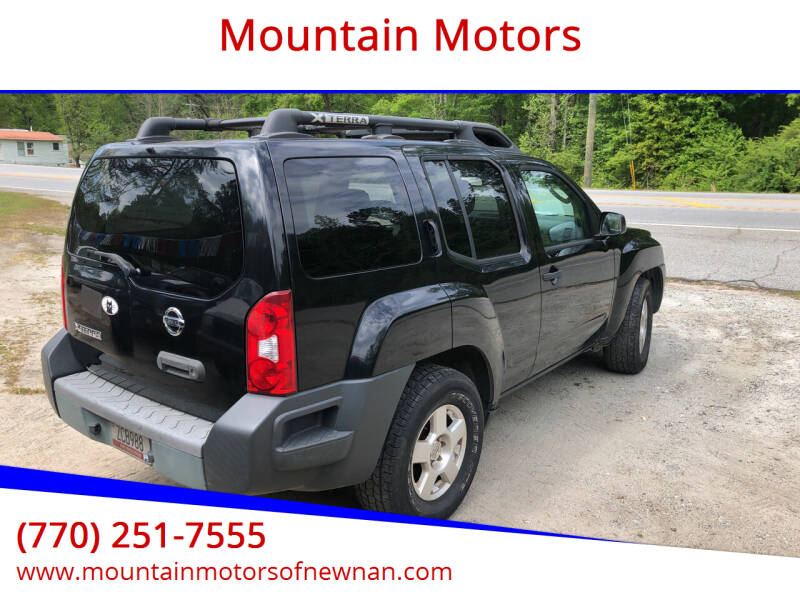 2007 Nissan Xterra for sale at Mountain Motors in Newnan GA