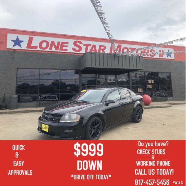 2014 Dodge Avenger for sale at LONE STAR MOTORS II in Fort Worth TX