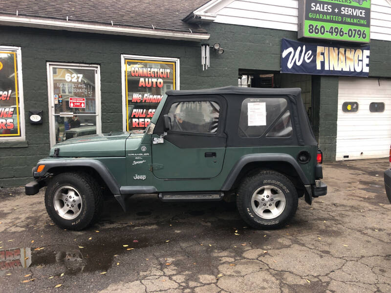 1999 Jeep Wrangler for sale at Connecticut Auto Wholesalers in Torrington CT