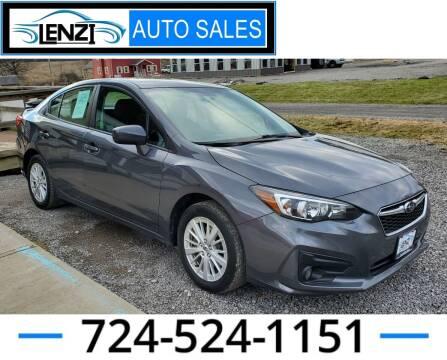2018 Subaru Impreza for sale at LENZI AUTO SALES in Sarver PA