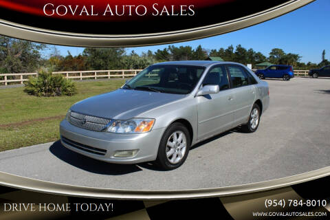 2002 Toyota Avalon for sale at Goval Auto Sales in Pompano Beach FL