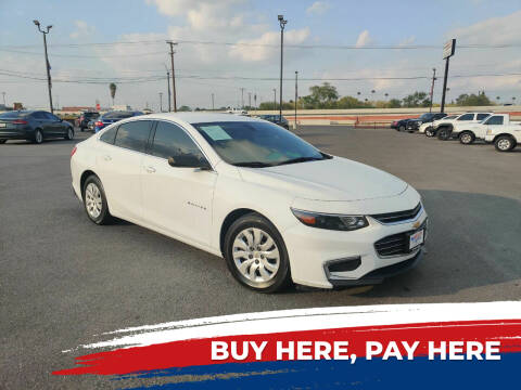 2016 Chevrolet Malibu for sale at Mid Valley Motors in La Feria TX