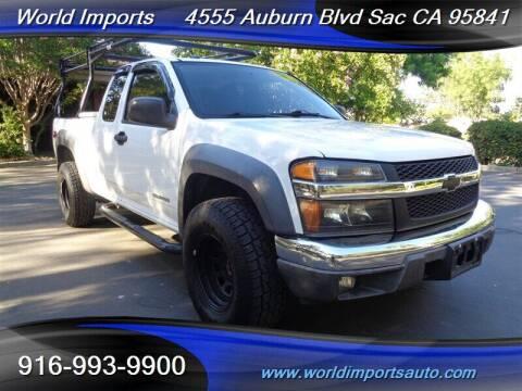 2005 Chevrolet Colorado for sale at World Imports in Sacramento CA