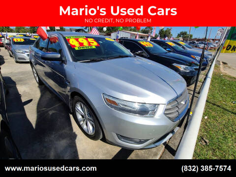 2013 Ford Taurus for sale at Mario's Used Cars in Houston TX
