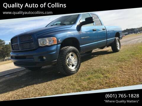 2003 Dodge Ram Pickup 2500 for sale at Quality Auto of Collins in Collins MS