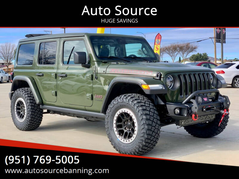 2020 Jeep Wrangler Unlimited for sale at Auto Source in Banning CA