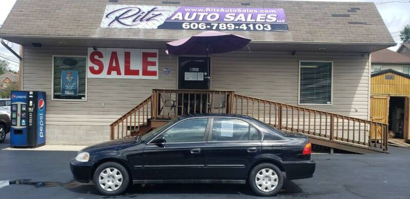 2000 Honda Civic for sale at Ritz Auto Sales, LLC in Paintsville KY
