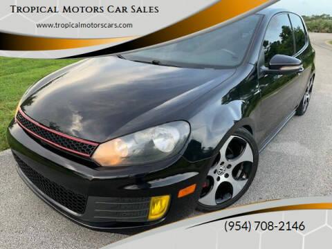 2012 Volkswagen GTI for sale at Tropical Motors Car Sales in Deerfield Beach FL