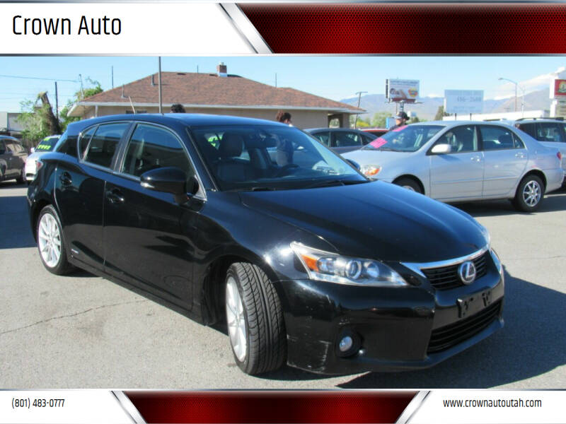 2012 Lexus CT 200h for sale at Crown Auto in South Salt Lake City UT