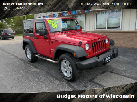 2008 Jeep Wrangler for sale at Budget Motors of Wisconsin in Racine WI