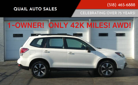 2017 Subaru Forester for sale at Quail Auto Sales in Albany NY