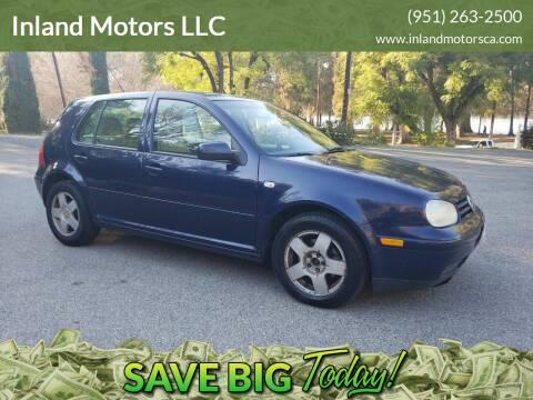 2002 Volkswagen Golf for sale at Inland Motors LLC in Riverside CA