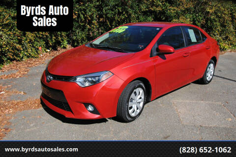 2016 Toyota Corolla for sale at Byrds Auto Sales in Marion NC