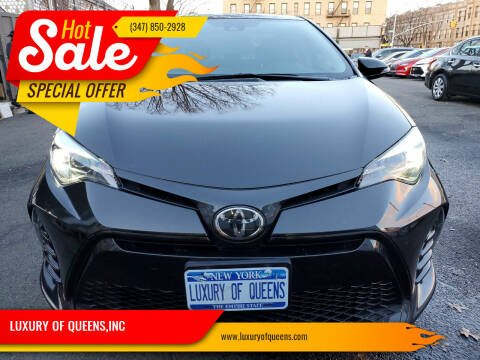 2018 Toyota Corolla for sale at LUXURY OF QUEENS,INC in Long Island City NY