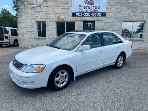 2001 Toyota Avalon for sale at Preferred Auto Sales in Tyler TX