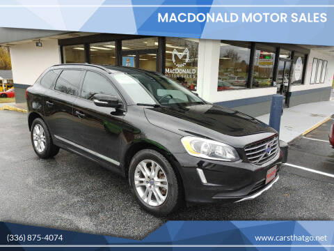 2015 Volvo XC60 for sale at MacDonald Motor Sales in High Point NC
