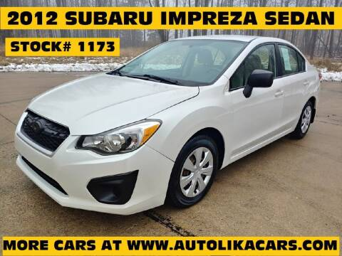 2012 Subaru Impreza for sale at Autolika Cars LLC in North Royalton OH