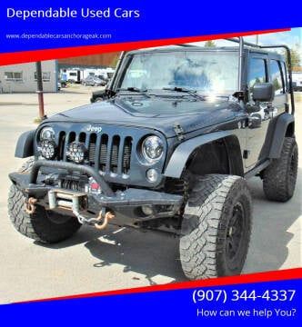 2016 Jeep Wrangler for sale at Dependable Used Cars in Anchorage AK