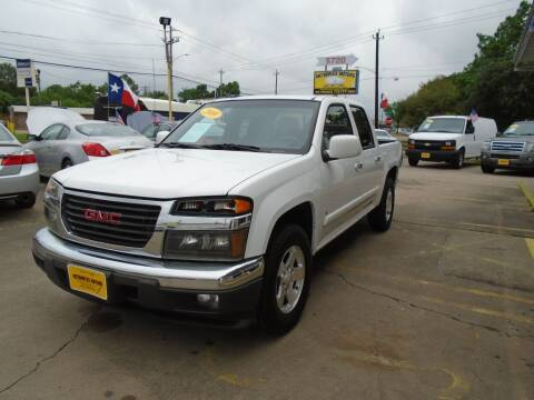 2009 GMC Canyon for sale at Metroplex Motors Inc. in Houston TX