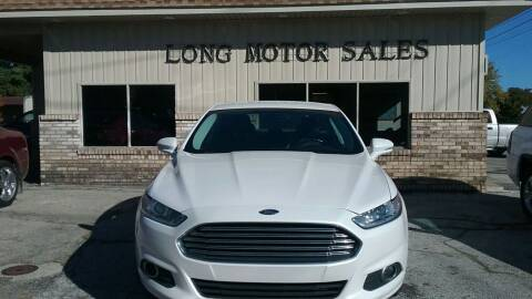 2016 Ford Fusion for sale at Long Motor Sales in Tecumseh MI