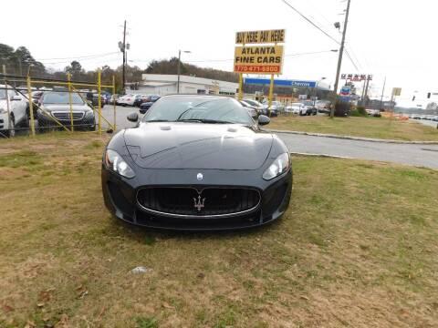 2013 Maserati GranTurismo for sale at Atlanta Fine Cars in Jonesboro GA