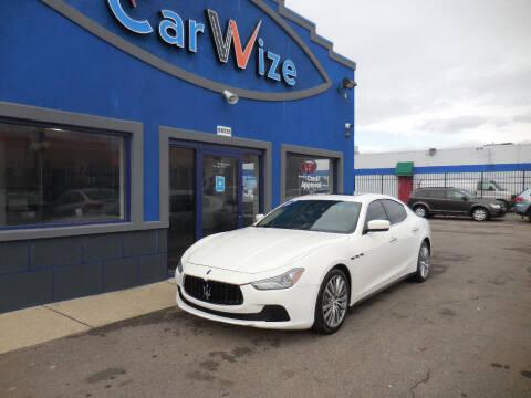 2015 Maserati Ghibli for sale at Carwize in Detroit MI