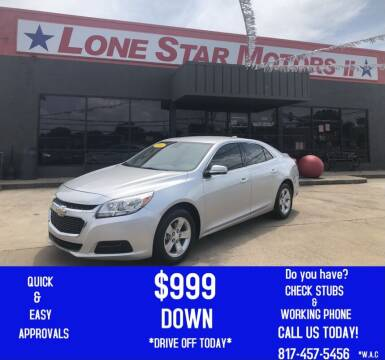 2016 Chevrolet Malibu Limited for sale at LONE STAR MOTORS II in Fort Worth TX