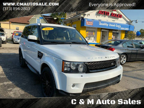 2013 Land Rover Range Rover Sport for sale at C & M Auto Sales in Detroit MI