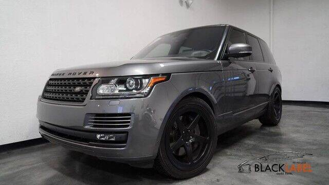 2016 Land Rover Range Rover for sale at BLACK LABEL AUTO FIRM in Riverside CA