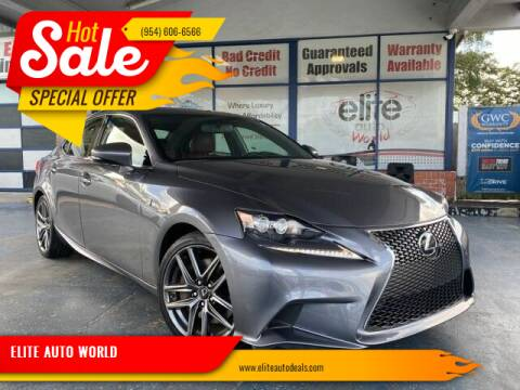 2014 Lexus IS 350 for sale at ELITE AUTO WORLD in Fort Lauderdale FL