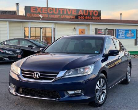 2013 Honda Accord for sale at Executive Auto in Winchester VA