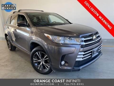 2018 Toyota Highlander for sale at ORANGE COAST CARS in Westminster CA