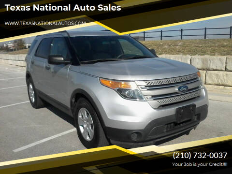 2013 Ford Explorer for sale at Texas National Auto Sales in San Antonio TX