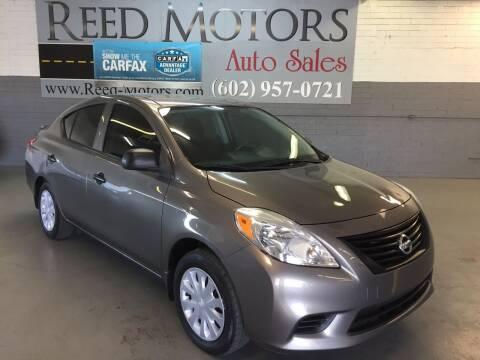 2014 Nissan Versa for sale at REED MOTORS LLC in Phoenix AZ
