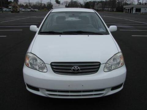2003 Toyota Corolla for sale at Iron Horse Auto Sales in Sewell NJ