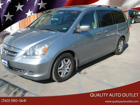 2006 Honda Odyssey for sale at Quality Auto Outlet in Vista CA