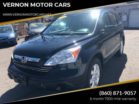 2008 Honda CR-V for sale at VERNON MOTOR CARS in Vernon Rockville CT