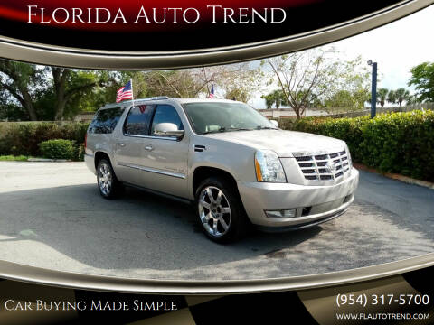2008 Cadillac Escalade ESV for sale at Florida Auto Trend in Plantation FL