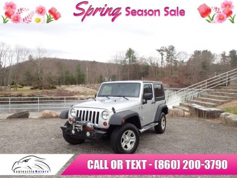 2012 Jeep Wrangler for sale at EAGLEVILLE MOTORS LLC in Storrs CT