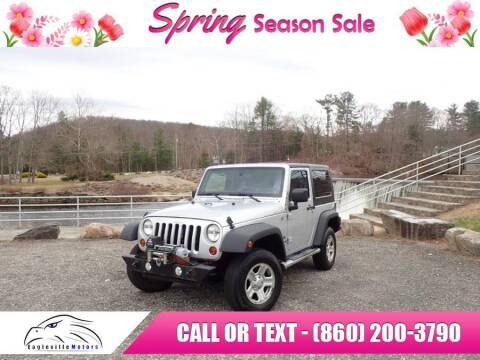 2012 Jeep Wrangler for sale at EAGLEVILLE MOTORS LLC in Storrs CT