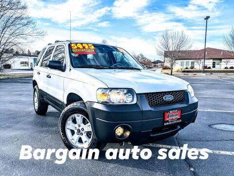 2005 Ford Escape for sale at Bargain Auto Sales LLC in Garden City ID