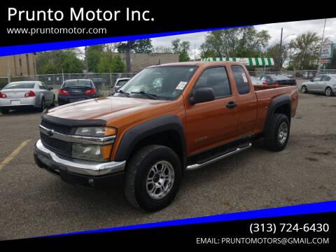 2005 Chevrolet Colorado for sale at Prunto Motor Inc. in Dearborn MI
