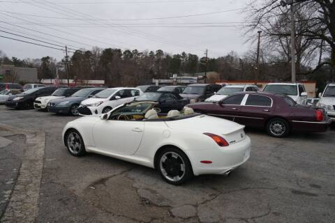 2002 Lexus SC 430 for sale at E-Motorworks in Roswell GA