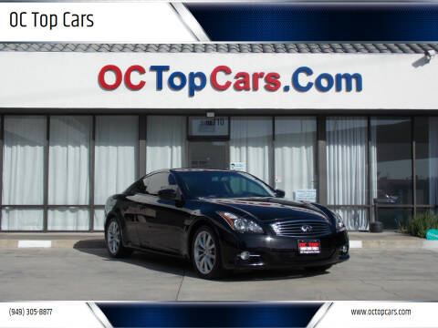 2013 Infiniti G37 Coupe for sale at OC Top Cars in Irvine CA