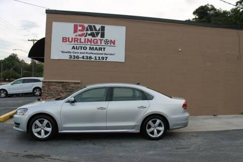 2014 Volkswagen Passat for sale at Burlington Auto Mart in Burlington NC