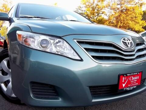2010 Toyota Camry for sale at 1st Choice Auto Sales in Fairfax VA